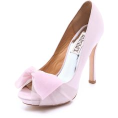 Badgley Mischka Zali Sandals with Chiffon Bow featuring polyvore women's fashion shoes heels sapatos peep-toe shoes leather sole shoes high heel peep toe shoes badgley mischka high heel platform shoes