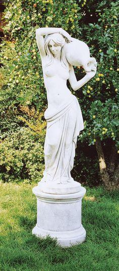 "Venere Canefore (Venus Canephors) #451 - 198 lbs. - 47.2"" tall - 14.2 dia - Garden Statuary"