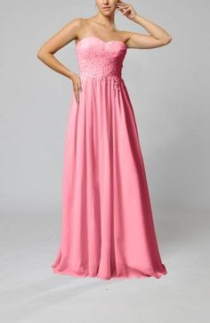 Chiffon Sweetheart Guest Gown - Order Link: http://www.theweddingdresses.com/chiffon-sweetheart-guest-gown-twdn7269.html - Embellishments: Pleated , Appliques; Length: Floor Length; Fabric: Chiffon; Waist: Natural - Price: 115.89USD