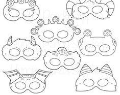 Halloween-Masken printable Halloweenkostüm von HappilyAfterDesigns