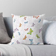 Glass Butterfly, Designer Throw Pillows, Pillow Design, Top Artists, Butterflies, My Arts, Vibrant, Art Prints, Printed