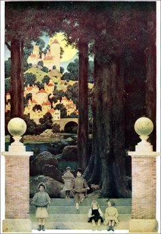 """Maxfield Parrish (1904) from the book, POEMS OF CHILDHOOD by Eugene Field - """"The Sugarplum Tree."""""""