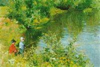 """Boys fishing"" by Vladimir Gusev."