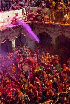 Holi the Hindu festival of colour. The Color Run In the US copied this!