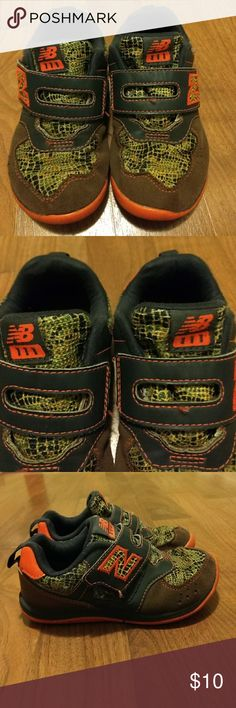 New balance toddler boy These are super cute new balance shoes my grandson is just growing so fast so there to short for him  there in good condition they have been washed since we've had them bought them off posh comes from a smoke free home ☺️ New Balance Shoes Sneakers