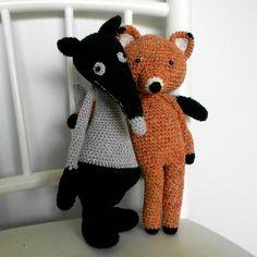 Oscar le renard et son copain le loup par Anisbee
