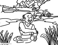 Naaman Is Healed (Coloring Page) Coloring pages are a great way to end a Sunday School lesson. They can serve as a great take home activity. Or sometimes you just need to fill in those last five mi...