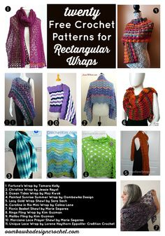 """[Tweet """"Get 20 Free Crochet Patterns for Rectangular Wraps this week!""""] If you have a crochet themeyou would like me to considerfor Free Crochet Pattern Friday, please let me know! All patterns were free at the time they were added to the post. If you visit a link and it has become a """"for sale"""" …"""