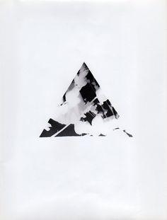 "One of a kind ""Triangle plant"" photogram"