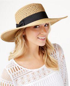 Nine West Packable Boater Hat  hat  womens Handbag Accessories ab0af487b91