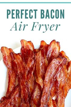 Bacon in Air Fryer …Crispy, Quick & Easy Air Frier Recipes, Air Fryer Oven Recipes, Air Fryer Dinner Recipes, Air Fryer Cooking Times, Cooks Air Fryer, Bacon Recipes, Healthy Recipes, Ninja Recipes, Air Fried Food