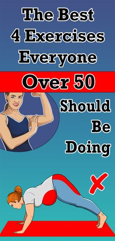 Health Discover The Best 4 Exercises Everyone Over 50 Should Be Doing Health And Fitness Tips, Fitness Diet, Health And Beauty, Health And Wellness, Women's Health, Short Workouts, At Home Workouts, Ab Workouts, Healthy Diet Tips
