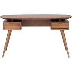 Found it at Wayfair - Affleck Writing Desk Wood Writing Desk, Wood Desk, Living Furniture, Office Furniture, Brown Furniture, Furniture Decor, Office Storage, Office Desk, Mid Century Modern Desk