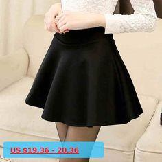 07a6ce07596 Fashion Sexy Women Skirt Black XL Fall Winter Skirts High Waist Pleated  Skirt Womens Skater Tutu