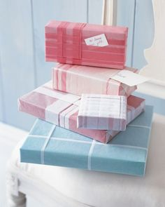 With a series of crisp folds, glassine -- or less expensive tissue -- serves as both wrapping paper and ribbon.