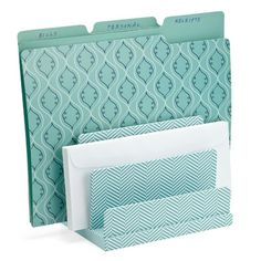 Aqua office supplies from See Jane Work. Office Organization At Work, Home Office Storage, Home Office Space, Home Office Decor, Office Ideas, Office Setup, Aqua Office, Tiny Office, Multipurpose Guest Room