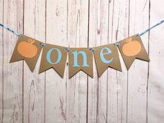 One Pumpkin High Chair Banner, Our Little Pumpkin is Turning One Decorations, Little Pumpkin Boy, One Pumpkin, First Birthday Cake Smash Birthday Cake Smash, First Birthday Cakes, Birthday Diy, Birthday Ideas, Diy Pumpkin, Baby In Pumpkin, Blue Pumpkin, Little Pumpkin Party, Pumpkin First Birthday