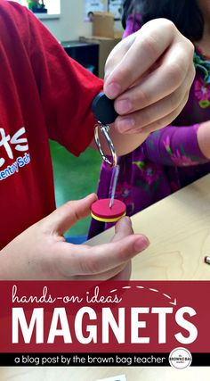 Teaching science with magnets for a high-level, hands-on learning experience in the first grade classroom Third Grade Science, Teaching First Grade, First Grade Classroom, Elementary Science, Science Classroom, Science Fair, Science Lessons, Science Education, Teaching Science