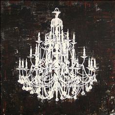 <li>Artist: Unknown</li><li>Title: Chandelier White and Black II</li><li>Product type: Canvas art</li>