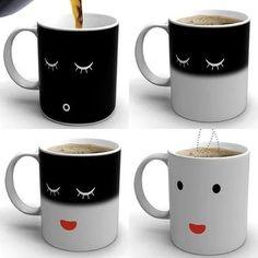"""""""熱いコーヒーを注ぐと目を覚ますマグカップ"""" https://sumally.com/p/1202624?object_id=ref%3AkwHNPvaBoXDOABJZwA%3AcW67"""