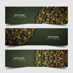 Kwiatowe banery internetowe Darmowych Wektorów