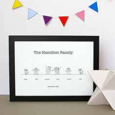 family tree thumb prints by adam regester art and illustration | notonthehighstreet.com