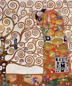 Klimt - Fulfillment (Luxury Line ) hand  painted oil oin canvas. several sizes. really nice