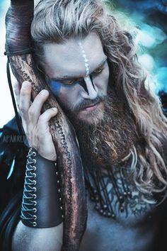 Tv-shows Movies Short movies Viking Cosplay, Viking Costume, Male Cosplay, Viking Men, Viking Life, Viking Warrior, Warrior Makeup, Male Makeup, Fantasy Photography