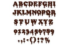Chocolate alphabet isolated. Objects. $5.00
