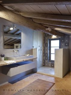 Foto di bagno in stile in stile mediterraneo : la segreta – bagno doccia   homify