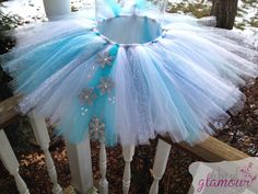 Blue Winter Wonderland Snowflake Tutu and Matching Bow by abitofglamour on Etsy https://www.etsy.com/listing/168886296/blue-winter-wonderland-snowflake-tutu