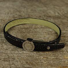 Bracelet Galuchat Noir Simple Tour MONBARTH