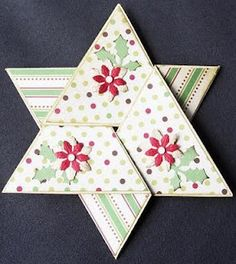 Tutorial Sterkaart Workshop, Folded Cards, Creative Cards, Cardmaking, Christmas Cards, Triangle, Scrap, Blog, Greeting Cards