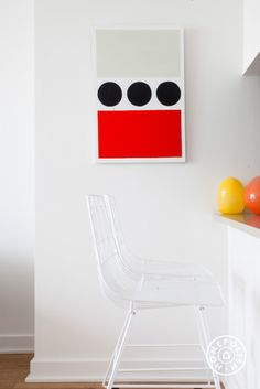 Jeffrey's Minimal (but a kind of colorful) Living Room - @Homepolish New York City