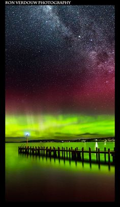 Southern Lights - Tasmania, Australia.I want to go here one day.Please check out my website thanks. www.photopix.co.nz