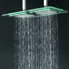 contemporary shower heads. Contemporary 9 Inch * 18 Glass Square LED Rainfall Shower Head T321 Heads D
