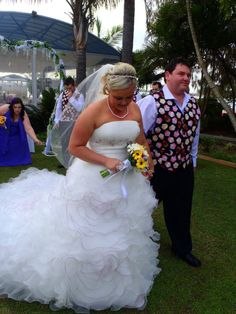 Our Beautiful Casey wedding day...Casey Gown was custom made by our team at Gowns Of Elegance.
