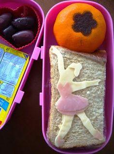 Ham and cheese ballerina bento.