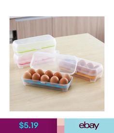 Food Storage Lovely Plastic Egg Storage Case Holder Box For Fridge & Freezer Container Tool #ebay #Home & Garden