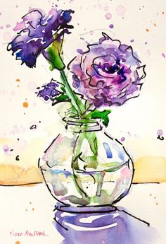 Nora MacPhail Gallery of Original Fine Art Watercolor Pictures, Pen And Watercolor, Abstract Watercolor, Watercolor Flowers, Watercolor Paintings, Watercolours, Arte Floral, Art Plastique, Painting & Drawing