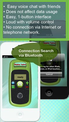 Bluetooth Call Lite on App Store:   Turn your iPhone or iPad into a walkie-talkie and talk to each other. Instant voice chat. No registration. No costs. This application allows you to talk wirelessly and better than a standard walkie-talkie because it doesnt require pressing buttons in order to talk; its like making a phone-...  Developer: Asif Khalyani  Download at http://ift.tt/1sTwueU