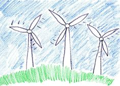 3095403-Child-drawing-of-alternative-power-generation-made-with-wax-crayons-Stock-Photo.jpg (1300×938)