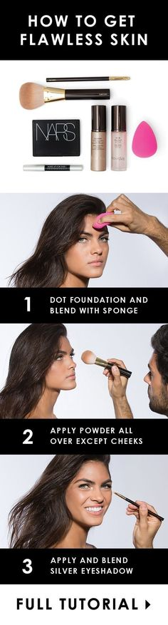 Three steps to looking like you woke up like this. | 21 Beauty Tricks For Makeup Addicts In Training