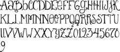 """font """"Lady Rene"""" #journal #typography"""