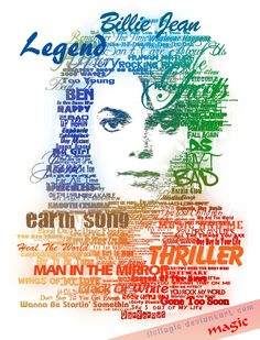 MJ Typographic by llvllagic on DeviantArt