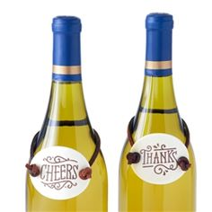 Hallmark Cheers and Thanks Wine Tags #hiddentreasuresdecorandmore #wine #tags #hallmark