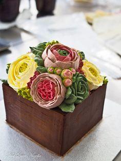 Buttercream Flower Cake (and Best Buttercream Recipe) from Not Quite Nigella