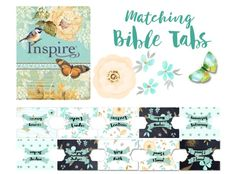printable Bible journaling tabs to match the inspire Bible #biblejournaling