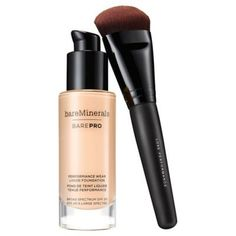 bareMinerals' newest addition to their foundation line, the barePro Performance Wear Liquid Foundation is the full coverage foundation of your dreams. Bare Minerals Complexion Rescue, Bare Minerals Makeup, Liquid Minerals, Best Full Coverage Foundation, Foundation Tips, No Foundation Makeup, Drugstore Foundation, Best Foundation For Oily Skin, Foundation Colors