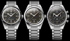 Omega is celebrating the 60th anniversary of the Speedmaster, Seamaster 300, and Railmaster 1957. Called 'Trilogy'- 60th Anniversary Limited Edition Watches. Details with pricing now live on our site!